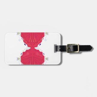 Étiquette À Bagage Blanc rouge d'ornements de luxe