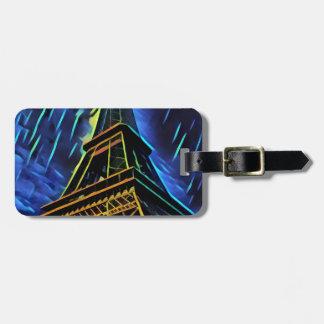 Étiquette À Bagage Bleu de Tour Eiffel