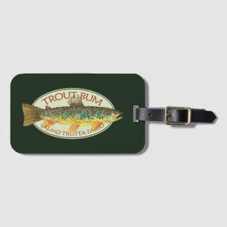 Étiquette À Bagage BON À RIEN de TRUITE drôle de pêche