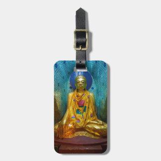 Étiquette À Bagage Bouddha dans l'alcôve fleurie