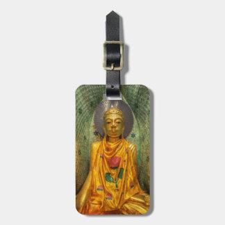 Étiquette À Bagage Bouddha d'or dans le temple