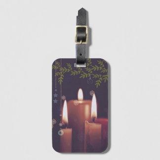 Étiquette À Bagage bougies de Noël