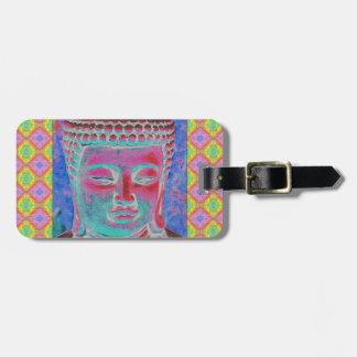 Étiquette À Bagage Bruit de Bouddha avec les frontières jaunes et