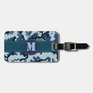 Étiquette À Bagage Camouflage de marine
