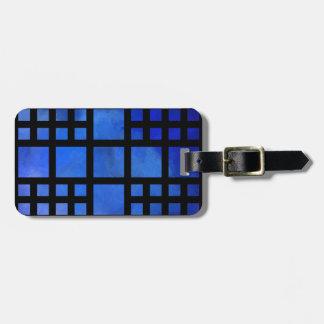 Étiquette À Bagage Cappanella V1 - carrés bleus