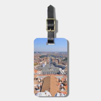 Étiquette À Bagage Carré de St Peter à Vatican, Rome, Italie