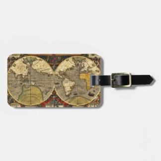Étiquette À Bagage Carte antique #2 du monde