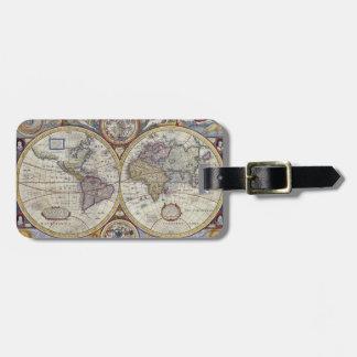Étiquette À Bagage Carte antique #3 du monde
