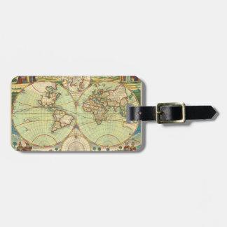 Étiquette À Bagage Carte antique #4 du monde