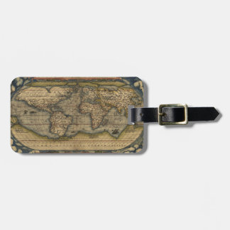 Étiquette À Bagage Carte antique du monde