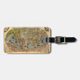 Étiquette À Bagage Carte du globe d'antiquité du monde