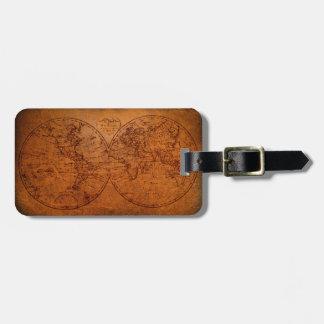 Étiquette À Bagage Carte vintage d'antiquité de Vieux Monde