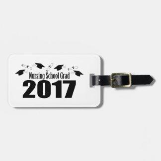 Étiquette À Bagage Casquettes du diplômé 2017 d'école d'infirmières