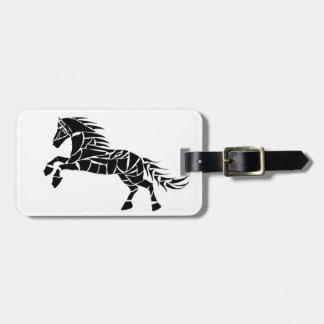 Étiquette À Bagage Cavallerone - cheval noir