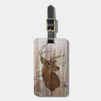 Étiquette À Bagage Cerfs communs primitifs occidentaux en bois de