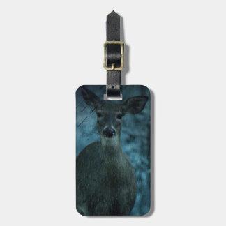 Étiquette À Bagage Cerfs communs sauvages de mâle de whitetail de la