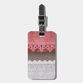 Étiquette À Bagage Chambre de corail rose