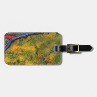 Étiquette À Bagage Champ de blé de Vincent van Gogh avec Soleil
