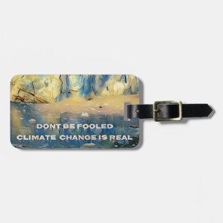 Étiquette À Bagage Changement climatique de glacier de fonte