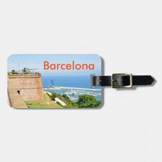 Étiquette À Bagage Château de Montjuic, Barcelone