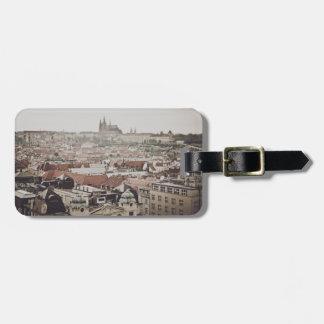 Étiquette À Bagage Château de Prague dans la ville de la République