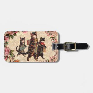Étiquette À Bagage Chats vintages joli Kitty antique