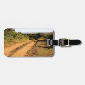 Étiquette À Bagage Chemin de terre de l'Afrique du Sud