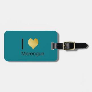 Étiquette À Bagage Coeur par espièglerie élégant Merengue d'I