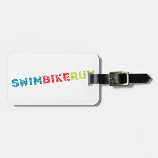 Étiquette À Bagage Conception de cool de triathlon