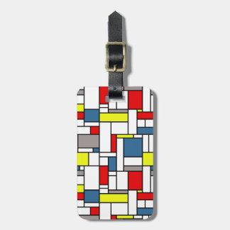 Étiquette À Bagage Conception de style de Mondrian