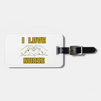 Étiquette À Bagage conception d'infirmière