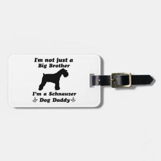 Étiquette À Bagage Conceptions de chien de Schnauzer