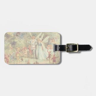 Étiquette À Bagage Contes de fées vintages, Thumbelina et prince