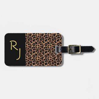 Étiquette À Bagage Coutume de motif de léopard décorée d'un