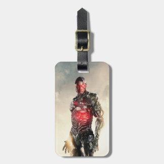 Étiquette À Bagage Cyborg de la ligue de justice | sur le champ de