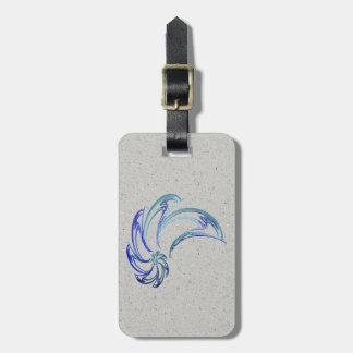 Étiquette À Bagage Danse de l'art abstrait de dauphins