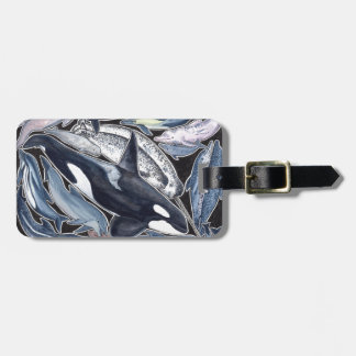 Étiquette À Bagage Dauphins, orques, belugas et narvales