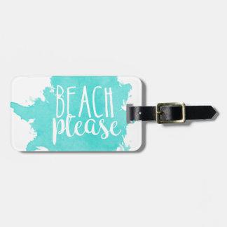 Étiquette À Bagage De plage blanc svp