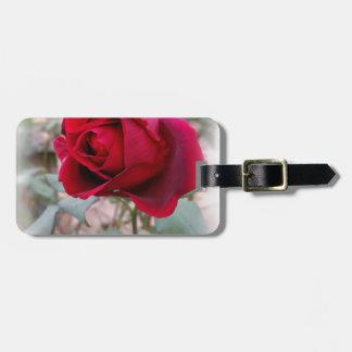 Étiquette À Bagage dernier rose rouge