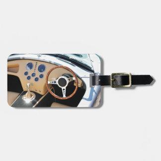Étiquette À Bagage Détail vintage de voiture