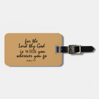 Étiquette À Bagage Dieu est avec vous partout où vous allez vers de