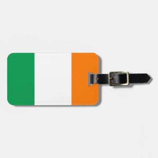 Étiquette À Bagage Drapeau d'étiquette de bagage de l'Irlande avec le