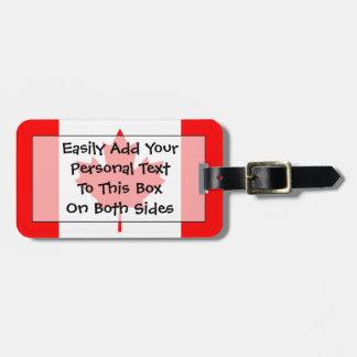 Étiquette À Bagage Drapeau d'identification facile personnelle du