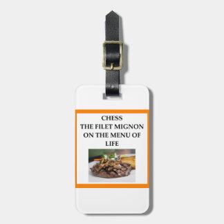 Étiquette À Bagage échecs