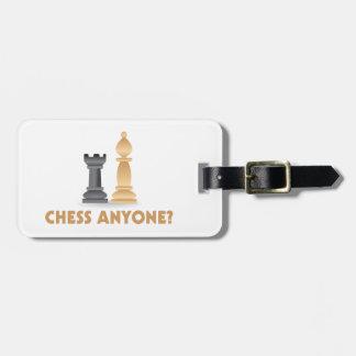 Étiquette À Bagage Échecs n'importe qui pièces d'échecs
