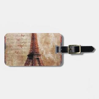 Étiquette À Bagage Eiffel Tower vintage Paris