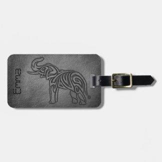 Étiquette À Bagage Éléphant tribal en cuir