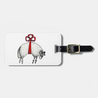 Étiquette À Bagage Emblème réuni héraldique de crête de moutons de