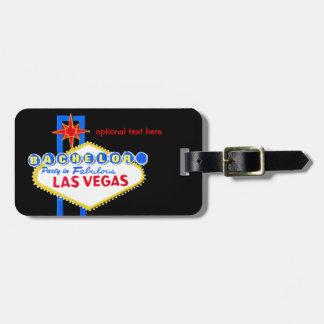Étiquette À Bagage Enterrement de vie de jeune garçon Las Vegas