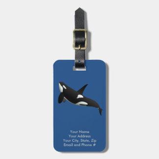 Étiquette À Bagage Épaulard, orque d'Orcinus